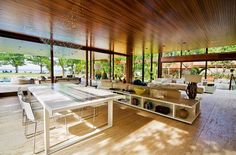 Spacious Brazilian beach house infused with Hollywood style…