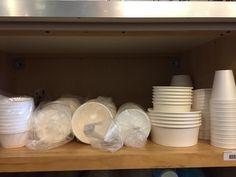RESTAURANT SUPPLY ASSORTMENT OF PLASTIC BOWLS, PLASTIC LIDS, STYRO-FOAM AND CUPS, ETC. Restaurant Supply, Restaurant Equipment, Plastic Bowls, Cups, Food, Commercial Restaurant Equipment, Mugs, Essen, Meals