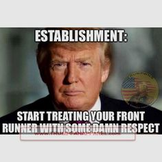 Are You Supporting Trump? www.TrumpFanApparel.com ✌️I DONT THINK SO!! He hasn't earned my respect- I guarantee he doesn't respect my life or the lives of my children.  This posted by an elderly white man- priceless!