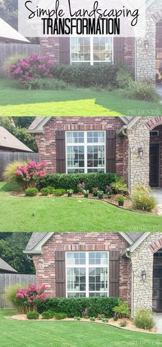 See the before & after photos of our overgrown landscaping AND read about the life lessons I uncovered and we pulled away all the weeds.