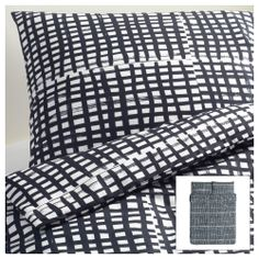 BJÖRNLOKA RUTA Duvet cover and pillowcase(s) - Full/Queen (Double/Queen) - IKEA $29.99