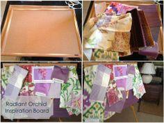Radiant Orchid Board #lauraramseyinteriors #laurasblog #radiantorchid #color #interiordesign