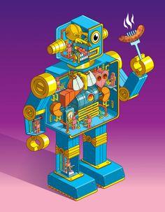 #robot #pixelart #illustration #color