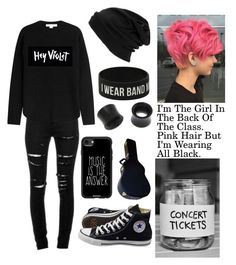 """""""Odd"""" by miles7713 ❤ liked on Polyvore featuring Yves Saint Laurent, Alexander Wang, Casetify, Converse, Hot Topic and NOVICA"""
