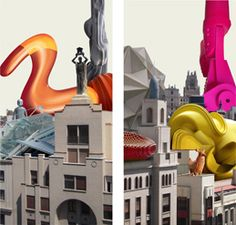 Photography: Artist Paco Diaz - Madrid 5 and 6 (Gran Via) Diptych 1 48x50 cm :: 5 unique copies certified by the artist. This piece is the outline basis for the creation of one of his contemporary painting. You can see his complete works http://www.plastike-artgallery.com/es/catalogo/component/virtuemart/view/category/virtuemart_manufacturer_id/16/start/10/limit/30.html