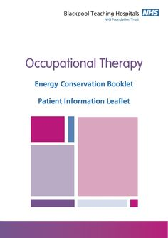 Energy Booklet from Blackpool Teaching Hospital