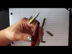 1. Pointed Pen Calligraphy 101: About nibs and oblique holders. This is the first of a very good 5 part series if you are trying to learn good calligraphy at home!