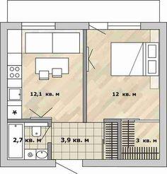 Фотография: в стиле , Перепланировка, Анастасия Киселева, Максим Джураев, дом серии И209-А, как обустроить однокомнатную квартиру в блочном доме, перепланировка однушки в блочном доме – фото на InMyRoom.ru