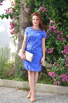flower dress electric blue inspo | When you're engaged in a shopping session to buy a flower dress, make sure you look for the colors that best suit your skin tone!