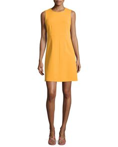 Color - I need more yellow.   Sleeveless Carrie A-Line Dress, Saffron by Diane von Furstenberg at Neiman Marcus.