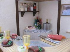 Cultonage class atelier ensemble miniature doll house