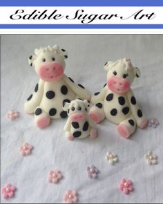 fondant structures | Custom listing for Antonella Fondant Cow Family Topper