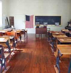 School room, circa 1800s, Sanibel Historical Museum, sadly explains this school house was for white children only.