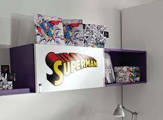 Super Child bedroom decor, creative super hero room