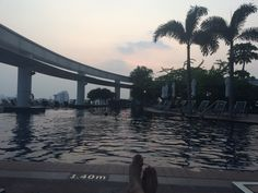Chilled out at Centara Grand's swimming pool