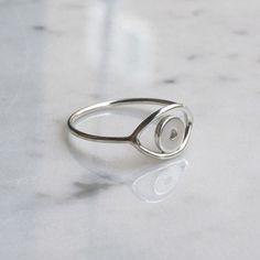 silver _ EYE ring [핑거프로젝트] 반지,은반지,실버링,눈반지,눈알반지,심플링,레이어드링,유니크반지,겐조눈,겐조눈알
