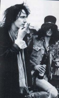 Slash was the character. So he gets so much notoriety. But in many ways, Axl was the head and heart and Izzy was the soul and swag of GnR. These guys were the only two *original* members of the band. Izzy left in '91. So stop bitching about Chinese Democracy. -MD #gunsnroses