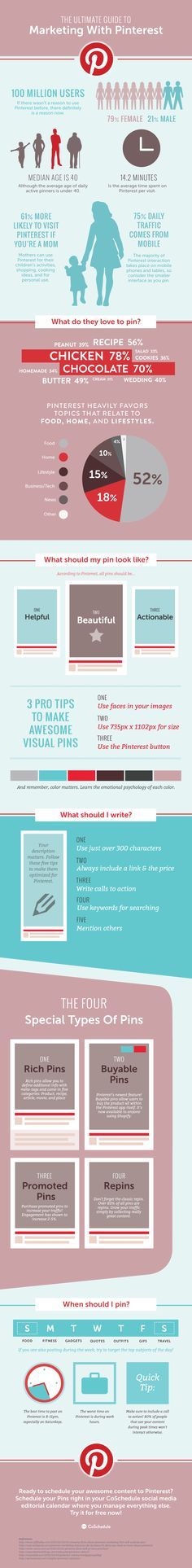 The Ultimate Guide On How To Use Pinterest For Marketing | Infographic