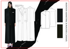 madalina buzas on Behance Fashion Design Portfolio, Fashion Design Drawings, Fashion Sketches, Fashion Sketch Template, Dress Design Sketches, Technical Drawing, Designs To Draw, Designer Dresses, Duster Coat