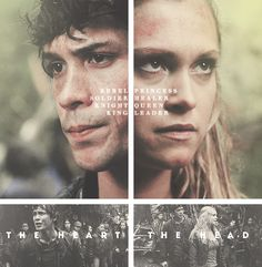 The heart and the head || The 100 || Bellamy Blake and Clarke Griffin || Bellarke || Bob Morley and Eliza Jane Taylor