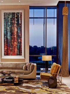 No.57 persian blue  Indoor Application Wall Covering Four Seasons Hotel Lobby, DIFC Dubai Specifier : Tihany Design – New York