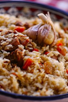 Uzbek Plov - enjoyed beef plov last night for the first time! Ours did not have carrots and golden raisins which worked well in a crowd with picky eaters :))