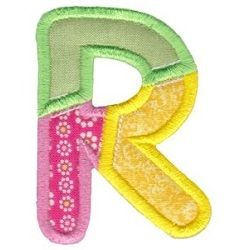 R Patch Alphabet (Swak Embroidery)