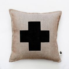 Home Decor Idea - Liven Up Your Living Room With Some Colorful And Fun Throw Pillows | Swiss cross pillow by PILLOWLINK