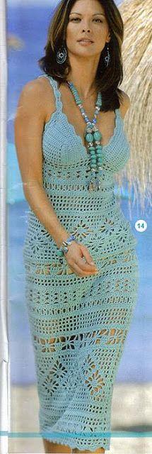 Delicadezas en crochet Gabriela: Vestidos