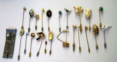 SOLD $39.00  Lot Of 23 Vintage STICKPINS by feathersoup on Etsy