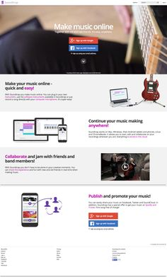 Make music online. Together with old and new friends. It's easy, anywhere.