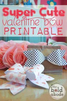 Super Cute Valentine Bow Printable