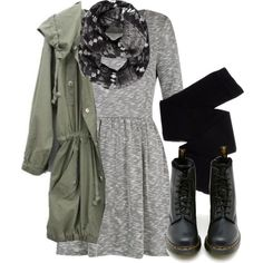Inspiration: Doc Martens, Dress, Military Jacket