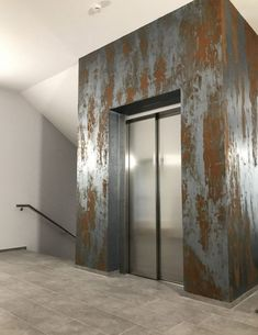 innovative wall design-with-rust Spachteltechnik Interior Design Your Home, Interior Design Living Room, Interior Decorating, Faux Murs, Outdoor Metal Wall Art, Polished Plaster, Led Wand, Faux Walls, Distressed Walls
