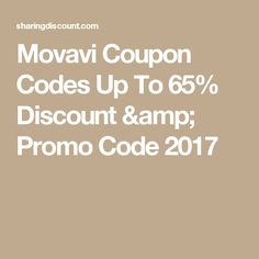 Movavi Coupon Codes Up To 65% Discount & Promo Code 2017