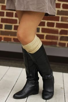 tall boots with tall socks