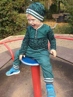 Kathi's Nähwelt: AWS: Ein grünes Outfit für den Spielplatz