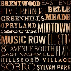 I want an office in my house one day decorated with Nashville/Belmont things...this would be a cute poster!