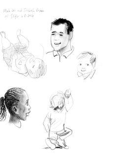 2 of 3 sketches of @bottomshelfbks & @studioroxas presenting LET ME FINISH! at @takoma last night. Congratulations!