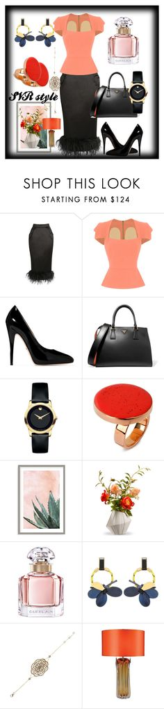 """""""SVR style"""" by svrrvs ❤ liked on Polyvore featuring Roland Mouret, Gucci, Prada, Movado, STELLA McCARTNEY, Art Addiction, National Tree Company, Guerlain, Marni and Universal Lighting and Decor"""
