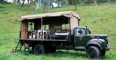 Amazing Spaces Army Truck Camping