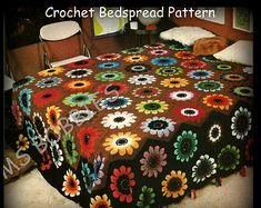 Crochet Irish Rose Afghan Pattern  Vintage Pattern  PDF