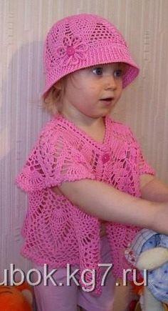 Шляпка и болеро для девочки,крючком | Клубок