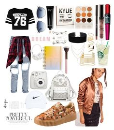 """Untitled #467"" by diyabeachbionic ❤ liked on Polyvore featuring Boohoo, Missguided, Puma, Eloquii, Miss Selfridge, Maybelline, BP., MCM, Bobbi Brown Cosmetics and Christian Dior"