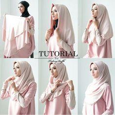 Hijab Simple, Simple Hijab Tutorial, Hijab Style Tutorial, Hijab Style Dress, Casual Hijab Outfit, Hijabi Girl, Girl Hijab, Street Hijab Fashion, Fashion Outfits