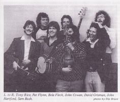 """Looks like New Grass Revival plus John Hartford, Tony Rice, and David """"Dawg"""" Grisman...that's a whole lotta talent in that picture!"""