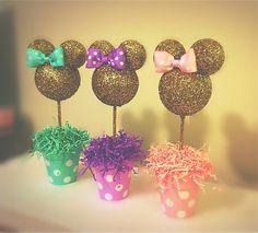 Rosa y oro brillo Minnie Mouse inspirado centro de mesa