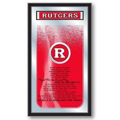 Rutgers Scarlet Knights Fight Song Mirror - SportsFansPlus.com. Visit website for bonus coupon!