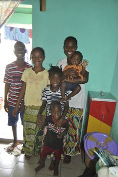 Delivered water filter to family in Guinea who are refugees from Liberia