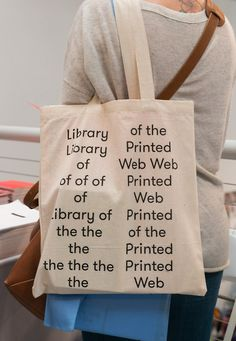 Library of the Printed Web Pam Pam, Cute Canvas, Typography Layout, Branding, Textiles, Kids Bags, Cotton Bag, Paper Gifts, Tote Handbags